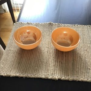 Two vintage Fire King bowls.